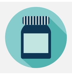Plastic jar vector
