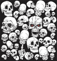 Skull tattoo wallpaper vector