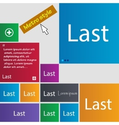 Last sign icon navigation symbol set of colored vector