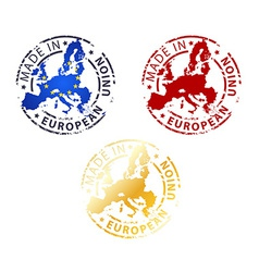 Made in european union stamp vector