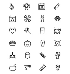 Halloween line icons 1 vector