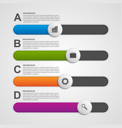 Colorful slider business infographic design vector