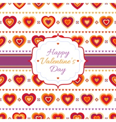 Background with bright hearts vector