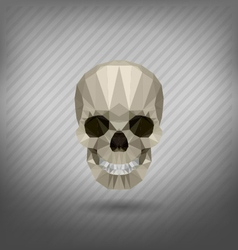 Skull in the style of origami vector