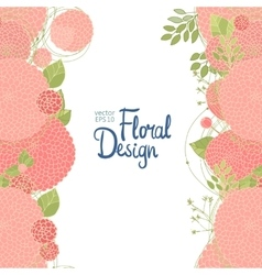 Vertical floral border vector