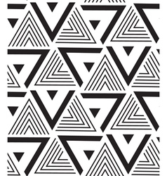 Geometric seamless pattern modern triangle texture vector