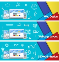 Web design layout of sites seo promotion vector