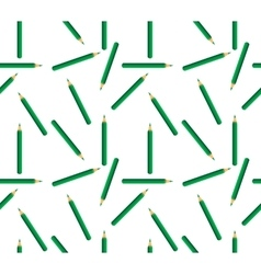 Seamless background of green pencils vector