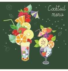 with the image of two cocktails with vector image