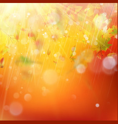 Autumn rainy colorful blur bokeh background eps vector