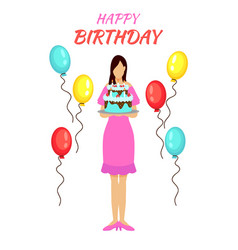 Birthday party greeting concept vector