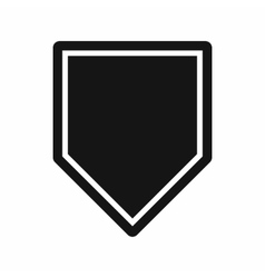 Black pennant icon simple style vector