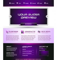 Business web template vector