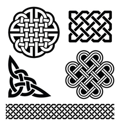 Celtic knots braids and patterns - vector image vector image