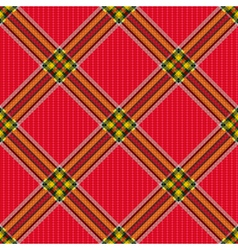 Checkered diagonal tartan fabric seamless pattern vector