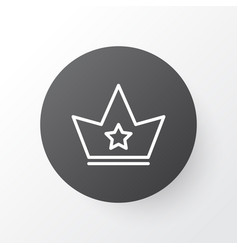 Crown icon symbol premium quality isolated corona vector