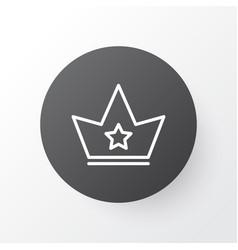 crown icon symbol premium quality isolated corona vector image