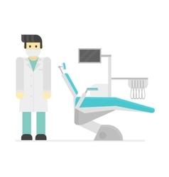 Dental chair clinic vector