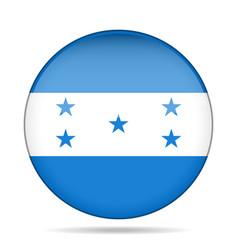 Flag of honduras shiny round button vector