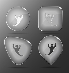 Ghost Glass buttons vector image