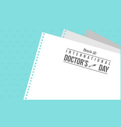 Greeting card for international doctor day vector