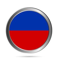 Haiti flag button vector image
