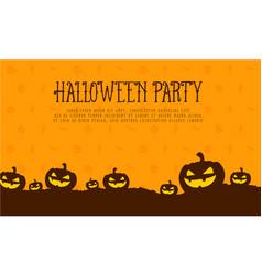 halloween pumpkin style card vector image vector image