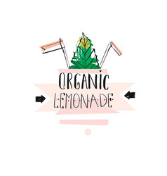 Hand drawn creative unique lemonade sign vector