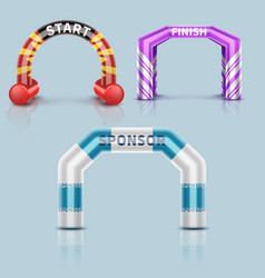 inflatable race start and finish archway outdoor vector image