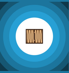 isolated backgammon flat icon dice element vector image