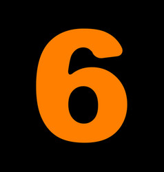 Number 6 sign design template element orange icon vector