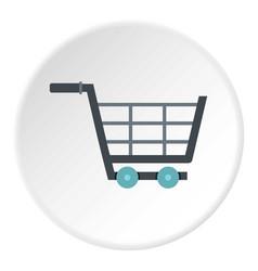 Online shopping icon circle vector