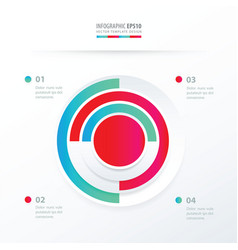 Pie chart infographics blue and pink color vector