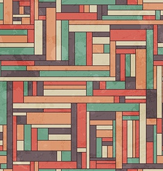 retro square seamless pattern with grunge effect vector image
