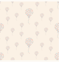 Seamless heart air balloon pattern vector