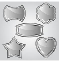 Set of metal labels vector image