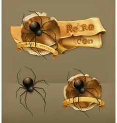 Spider icon vector
