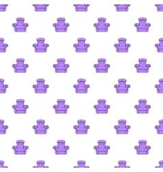 Easy armchair pattern cartoon style vector