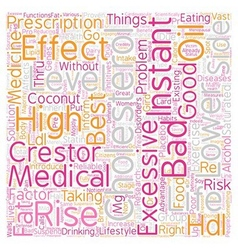 Lower cholesterol level text background wordcloud vector