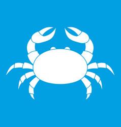 raw crab icon white vector image