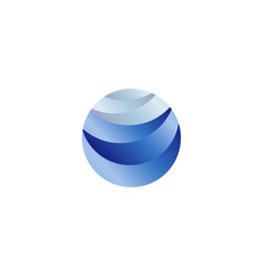 Abstract isolated round shape liquid blue color vector