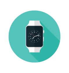 Light smart watch flat icon vector
