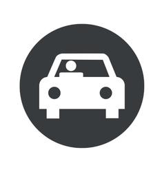 Monochrome round car icon vector image