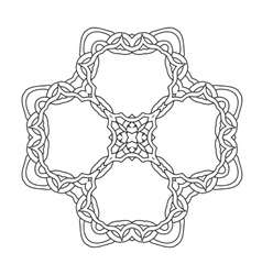 Ornamental lace pattern abstract ornament orient vector