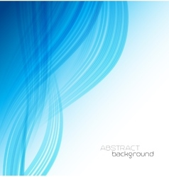 Abstract template background with blue curved wave vector