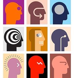 human heads 2 vector image