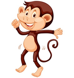 Little monkey dancing alone vector