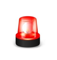 Red flashing siren vector