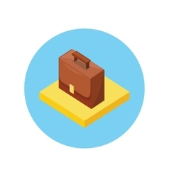 Case portfolio isometric design vector