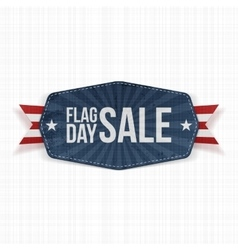 Flag day sale realistic banner with ribbon vector